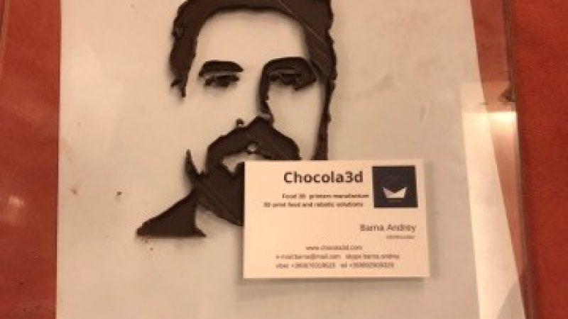 Your 3D print chocolate portraits